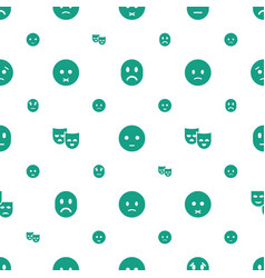 sadness icons pattern seamless white background vector image