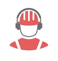 safety ear protection icon on white background for vector image