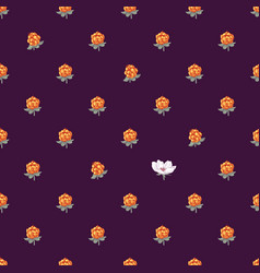 seamless pattern with hand drawn cloudberries vector image
