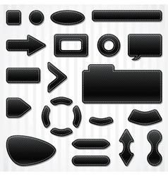 Set of icons buttons and menus for websites in vector