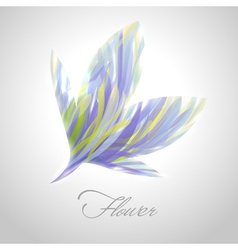 Shiny striped blue flower vector image