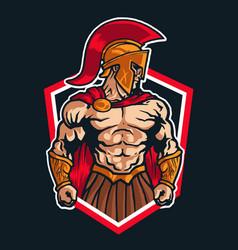 Sparta warrior logo mascot emblem vector