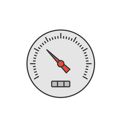 speedometer flat icon vector image