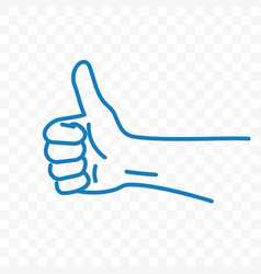 thumb up sketch line icon vector image