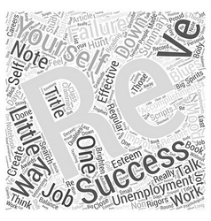 Unemployment Blues Talk To Yourself Word Cloud vector
