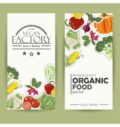 Vegetable card template Organic farm vector
