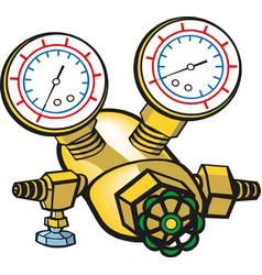 Welding equipment acetylene gas cylinder tank vector