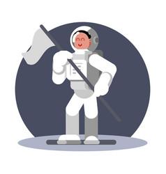 Woman cosmonaut in helmet vector