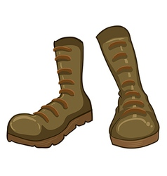 A pair of boots vector image vector image