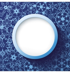 Abstract winter frame with decorative snowflakes vector image