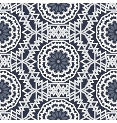 Bohemian pattern with big abstract flowers vector image vector image