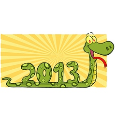 Snake Cartoon Character Showing Numbers 2013 vector image vector image