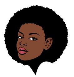 afro hair pop art vector image