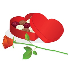 heart shaped box vector image vector image
