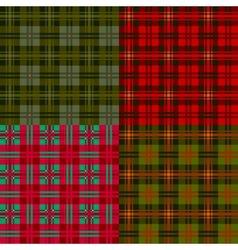 set plaid patterns tartan fabric textile vector image vector image
