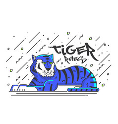 Flat designed tiger vector