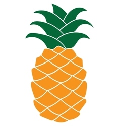 Flat pineapple icon isolated on white background vector image vector image