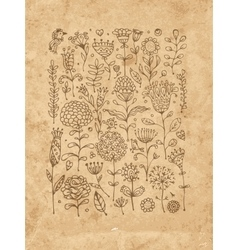 Floral pattern sketch for your design vector image