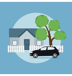 home and car vector image vector image