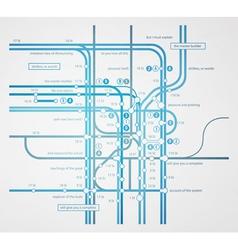 infographics subway transportation plan vector image