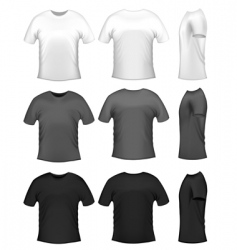 Men's t-shirts vector