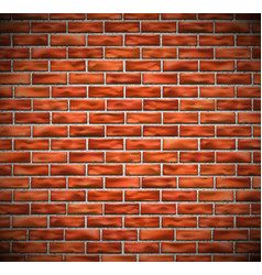 Red brick wall vector