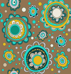 seamless with abstract flowers vector image