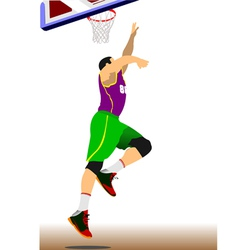 al 1110 basketball 01 vector image