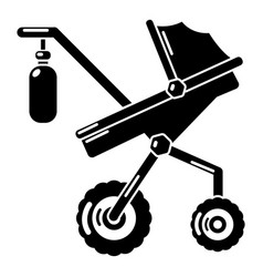 baby carriage classy icon simple black style vector image vector image