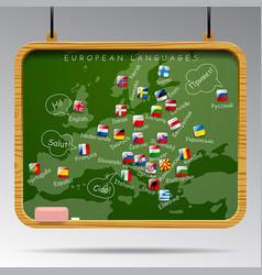 blackboard of european languages vector image