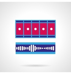 Blue and pink video processing icon vector image vector image