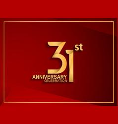 31 anniversary celebration logotype golden color vector