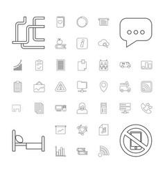 37 information icons vector