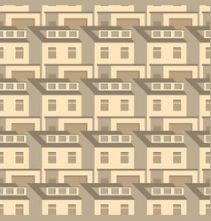 3d homes seamless pattern design vintage flat vector image