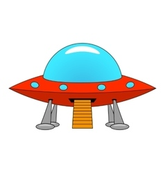 A cartoon ship UFO vector