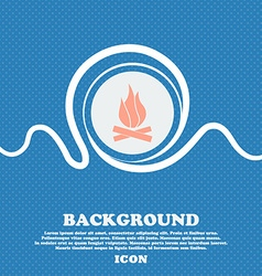 A fire sign icon Blue and white abstract vector image