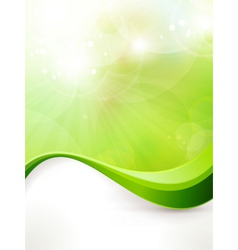 Abstract green background with wave pattern vector image