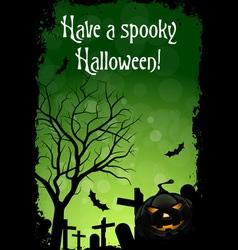 Abstract Green Halloween Card vector