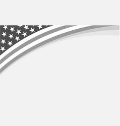 american flag corner frame banner vector image