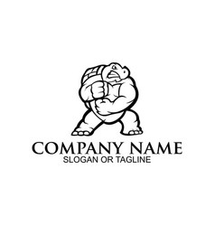 angry ninja turtle mascot vector image