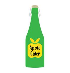 Apple cider vinegar in bottle vector