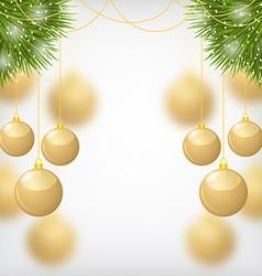 balls gold fir vector image