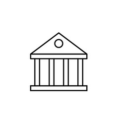bank building icon element of finance signs and vector image