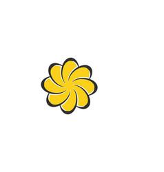 beauty plumeria icon flowers design vector image