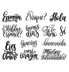 bienvenida hola gracias espana translated from vector image