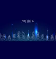 big data technological background vector image