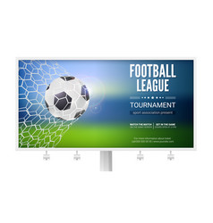 Billboard with movement of football ball game vector