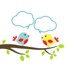 Birds with speech bubbles vector