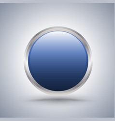 Blue circle frame with white copyspace vector