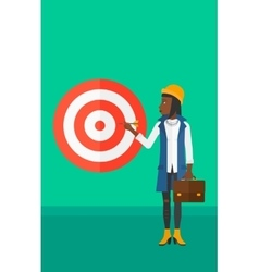 Business woman with target board vector image